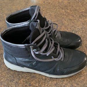 Ecco Gore-Tex lace up black ankle boots - Sz EU 40